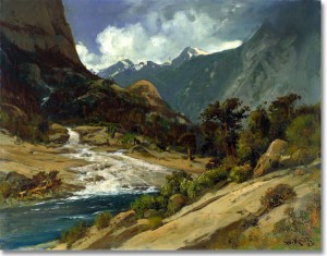 Hetch Hetchy Side Canyon by William Keith
