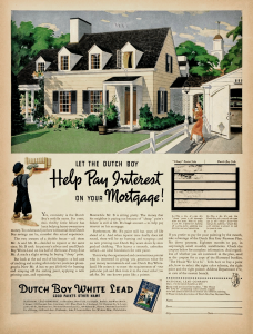 1937 Dutch Boy Lead Paint Ad (click for full view)