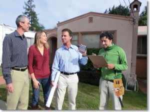 Homeowners with Contractor & Foreman